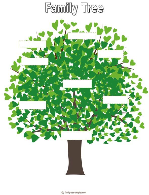 Family Tree For Kids Template Activity Day Ideas Pinterest