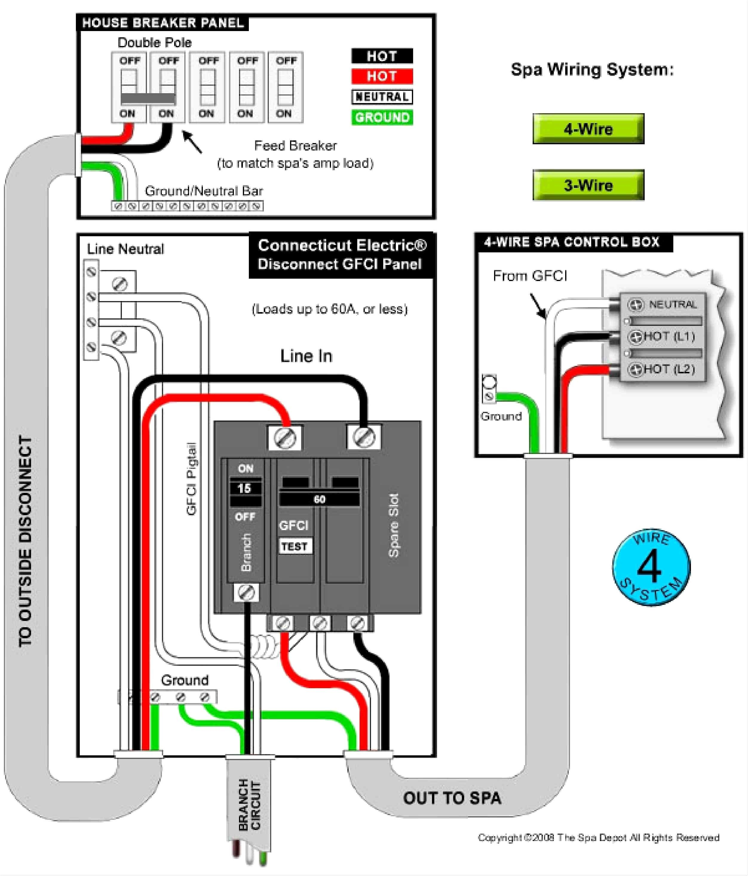 4 Wire 220v Wiring Diagram Hot Tub