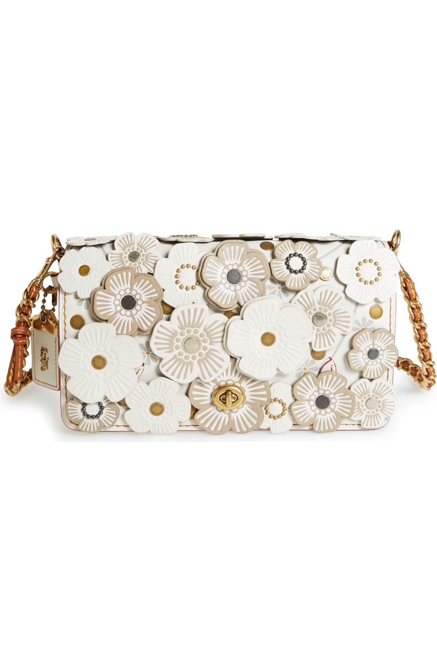 Main Image - COACH 1941  Dinky  Flower Appliqué Leather Crossbody ... d67406e0cde76