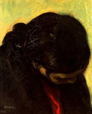 """""""Estudio, 1902"""". Óleo sobre lienzo.46 x 38 cms. Colección particular, Barcelona. España."""