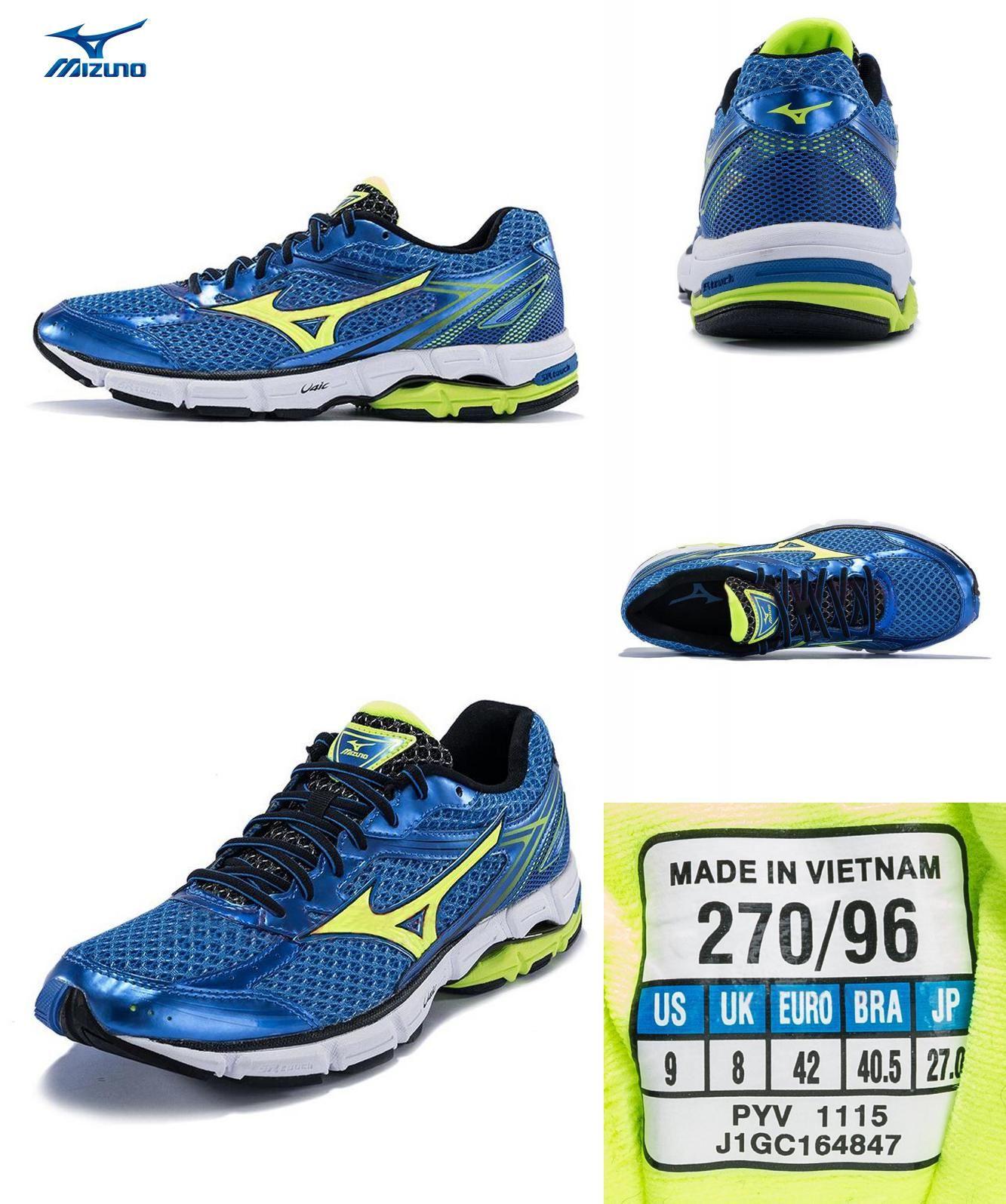 mens mizuno running shoes size 9.5 europe homme golden