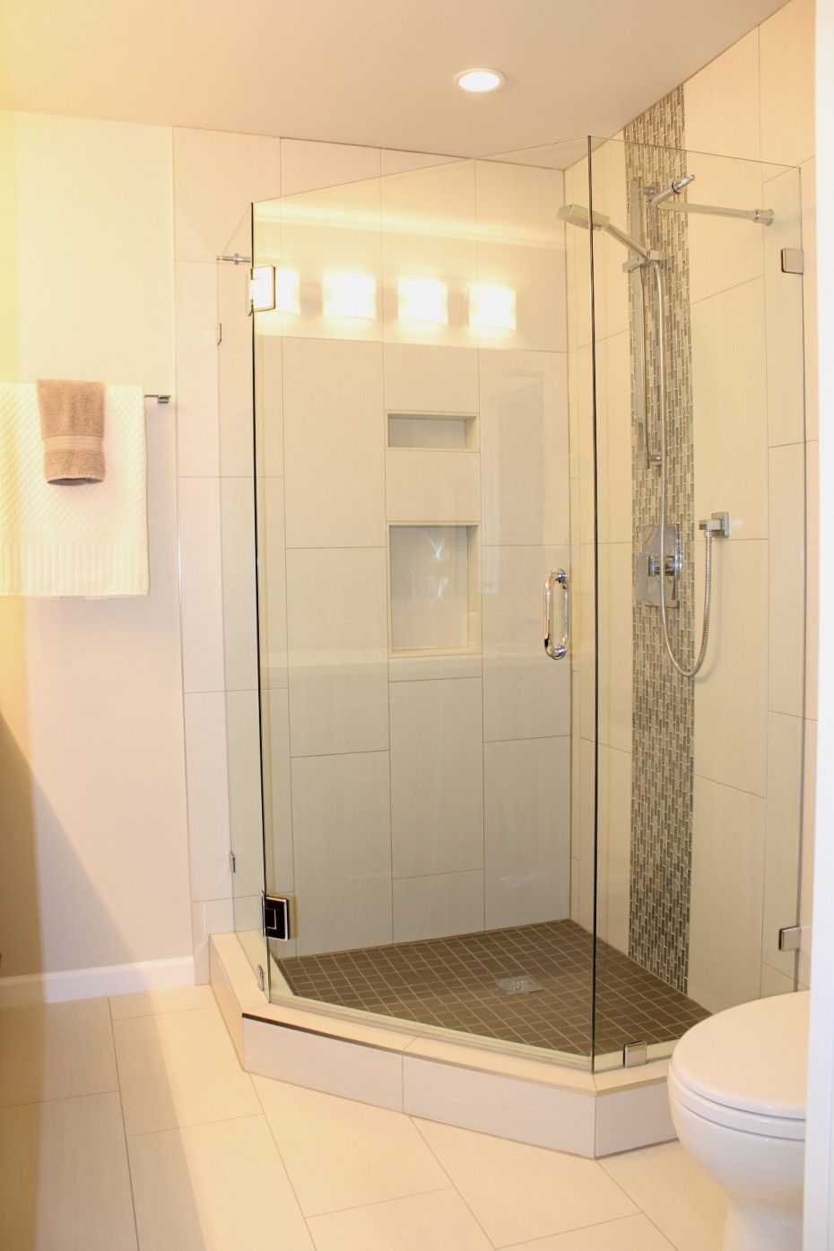 Bathroom Inspiration. Superb Stand Up Shower With Enclosure And ...