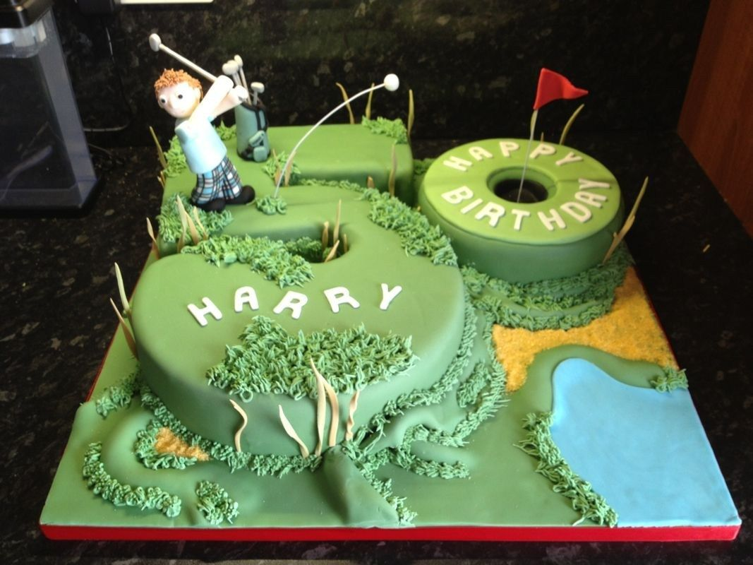 Awesome 30 Creative Photo Of Golf Birthday Cakes With Images 60Th Funny Birthday Cards Online Alyptdamsfinfo