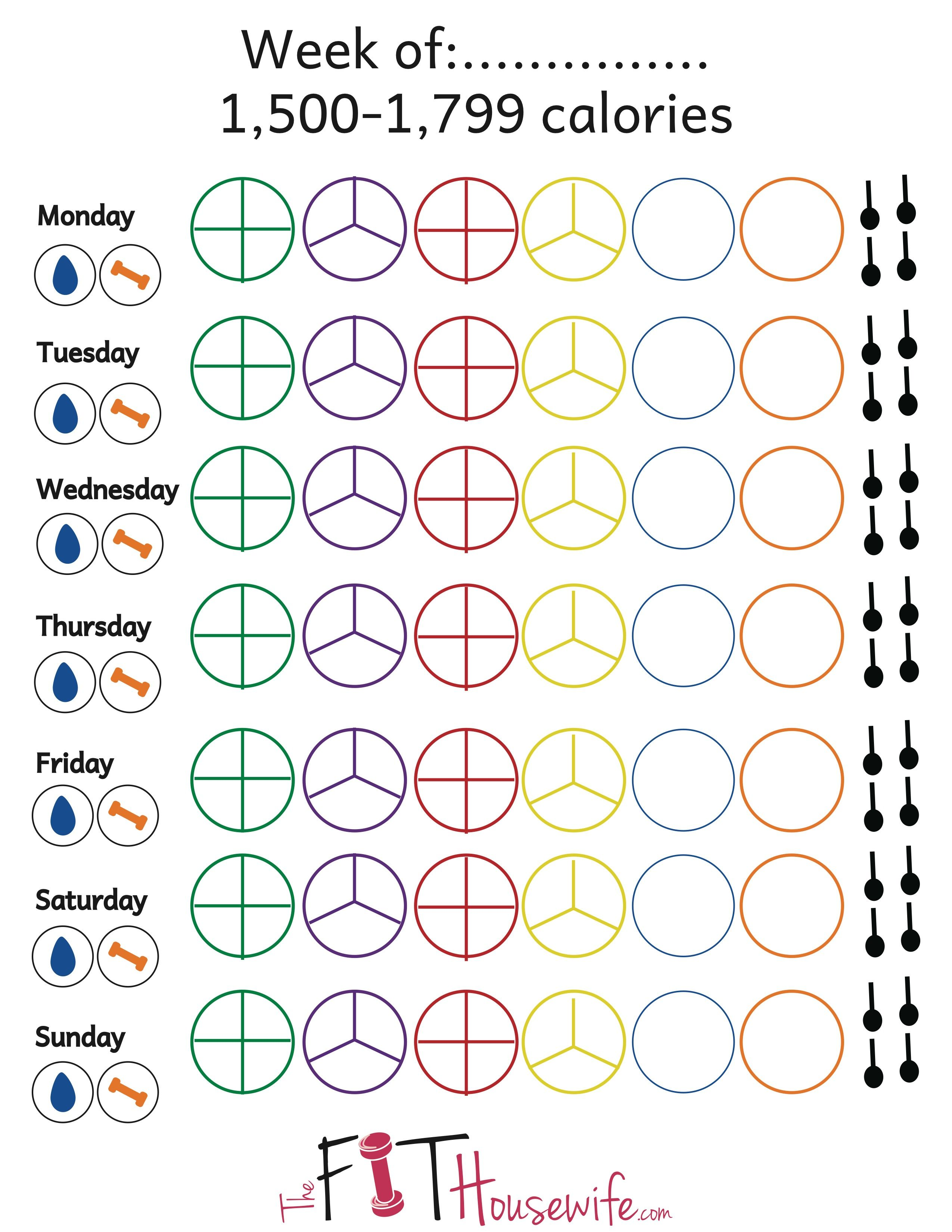 21 Day Fix Printable Tally Sheets