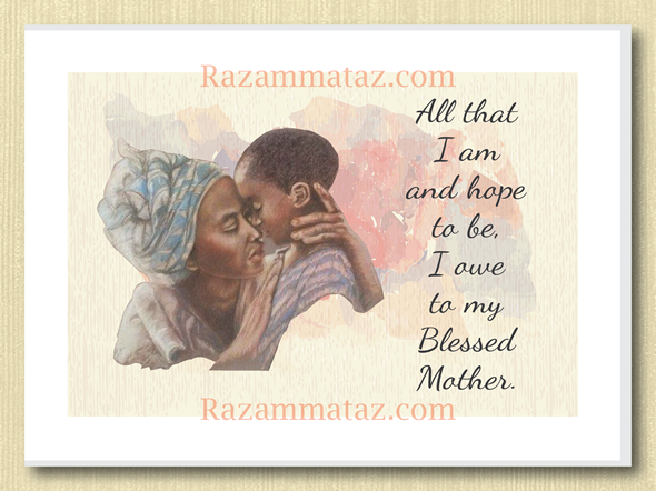 African American My Blessed Mother Mother S Day Card Mothers Day Poems Blessed Mother Mothers Day Quotes