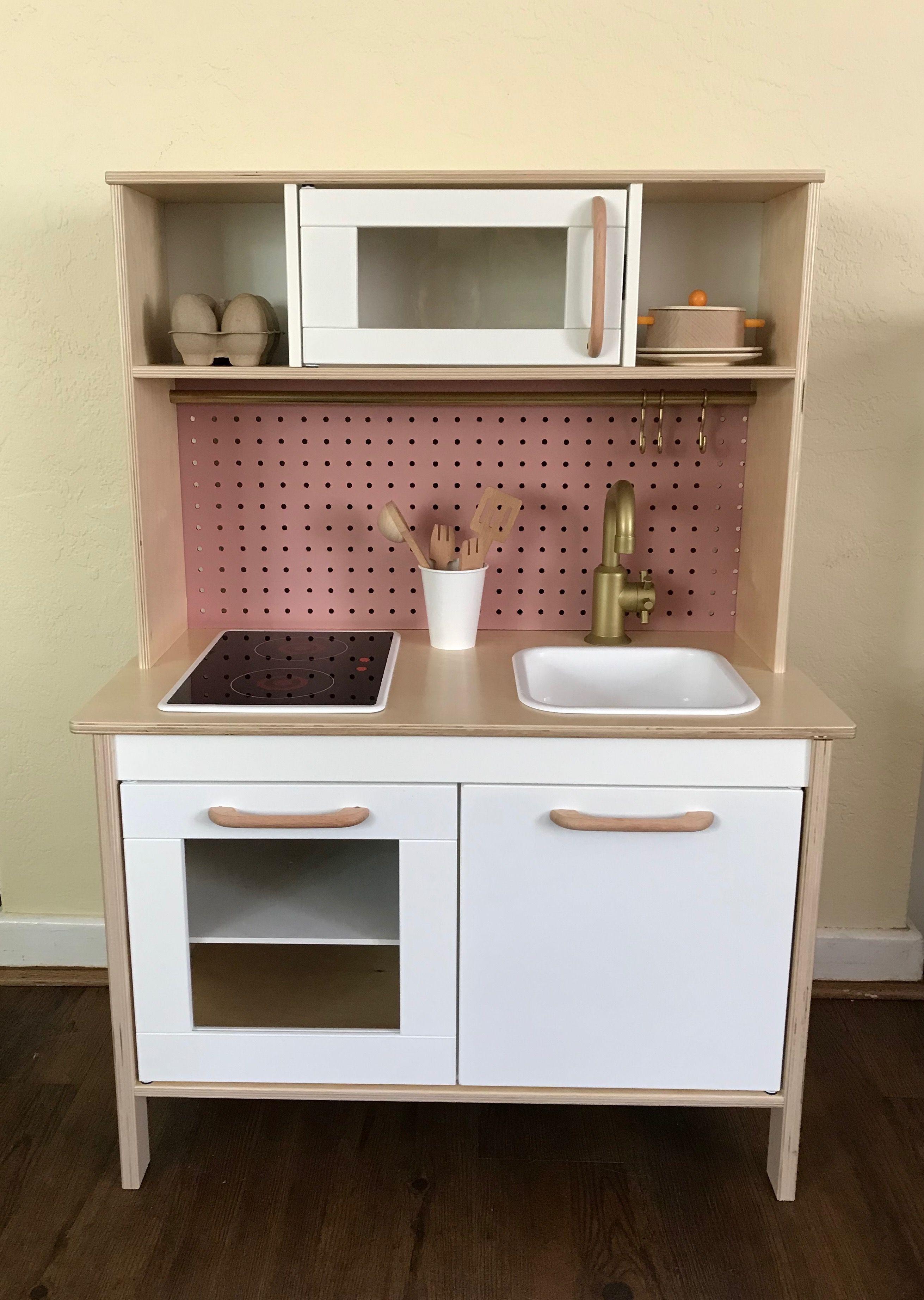 Ikea Duktig Play Kitchen Makeover By Dori Diy Pegboard Backsplash