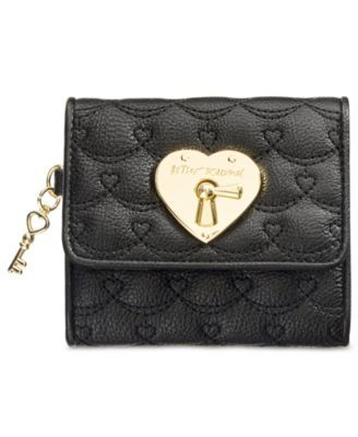 Betsey Johnson Boxed Swag Heart French Wallet Only At Macy S