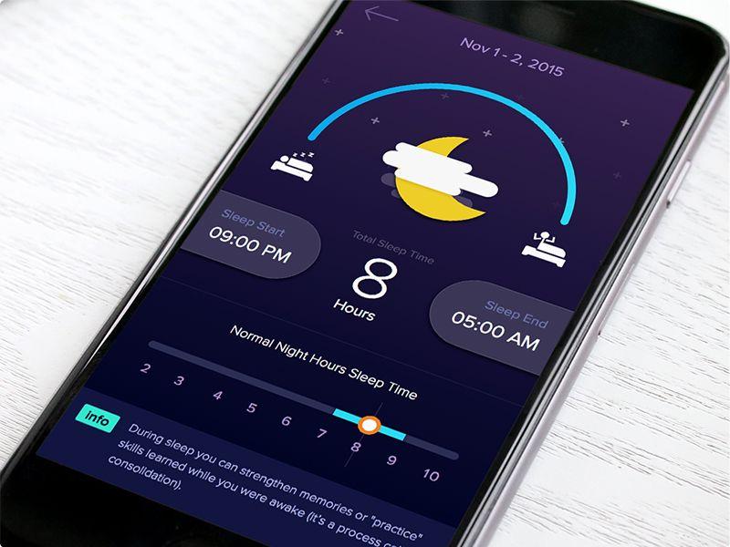 Sleep Tracker App   Mobile app design, Sleep tracker, App