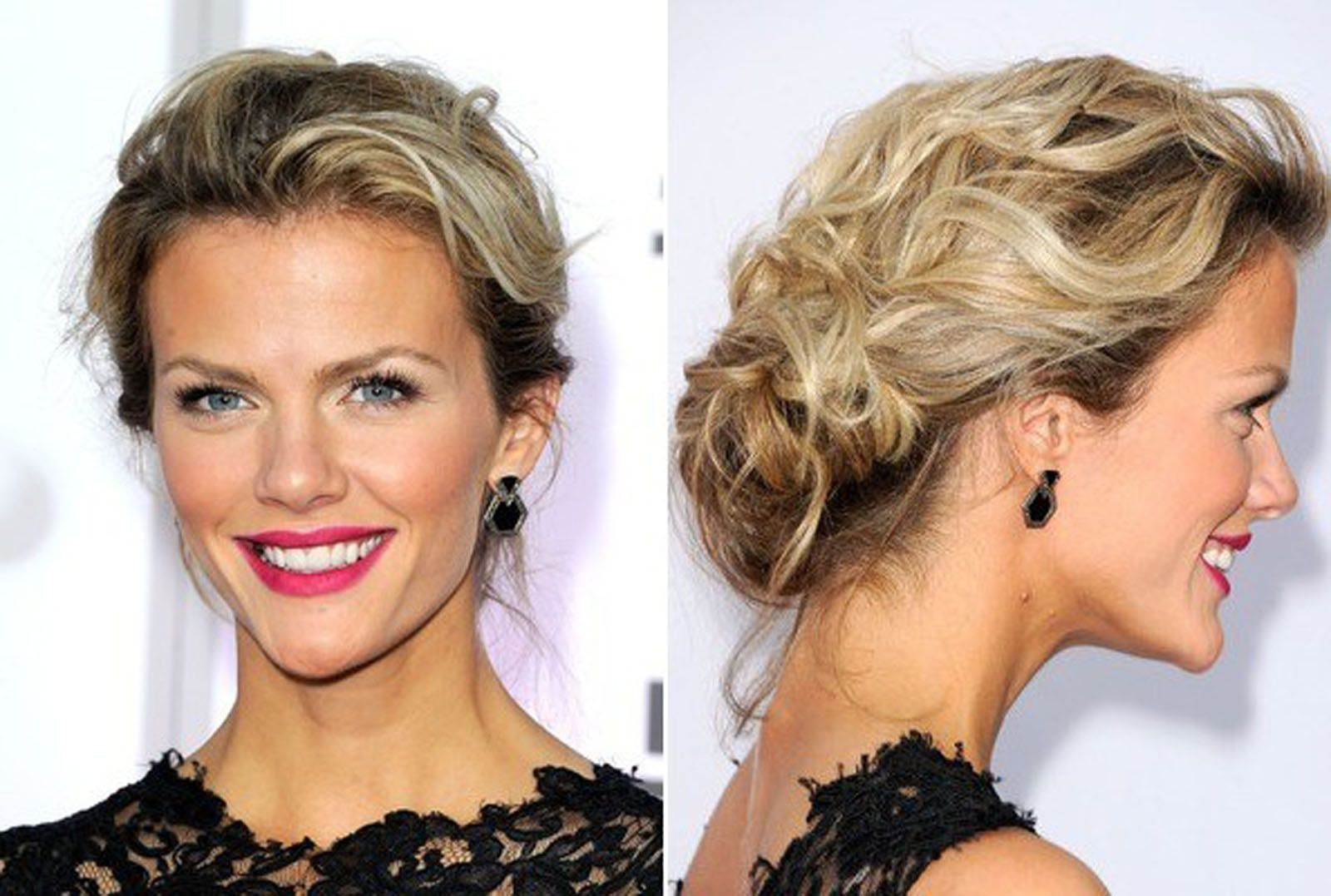 Loose braided updos for prom