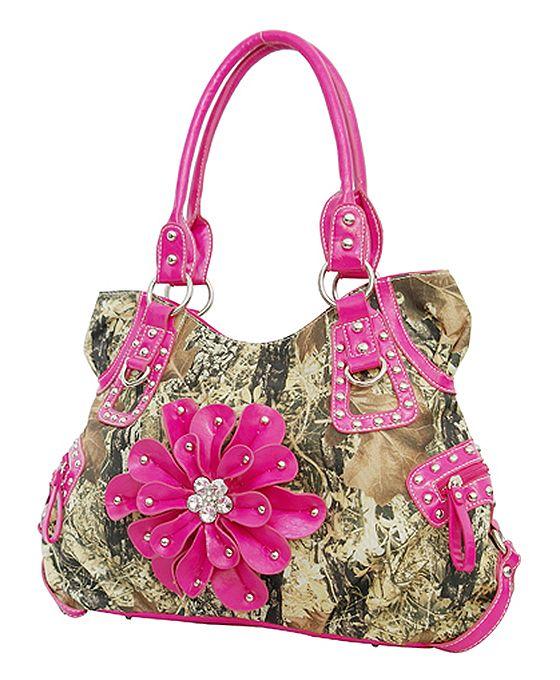 Pink Camo purses | FLOWER CAMO WESTERN PURSE PINK