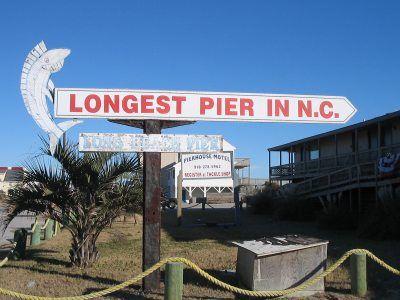 Pictures of Long Beach Pier - Oak Island, North Carolina (NC