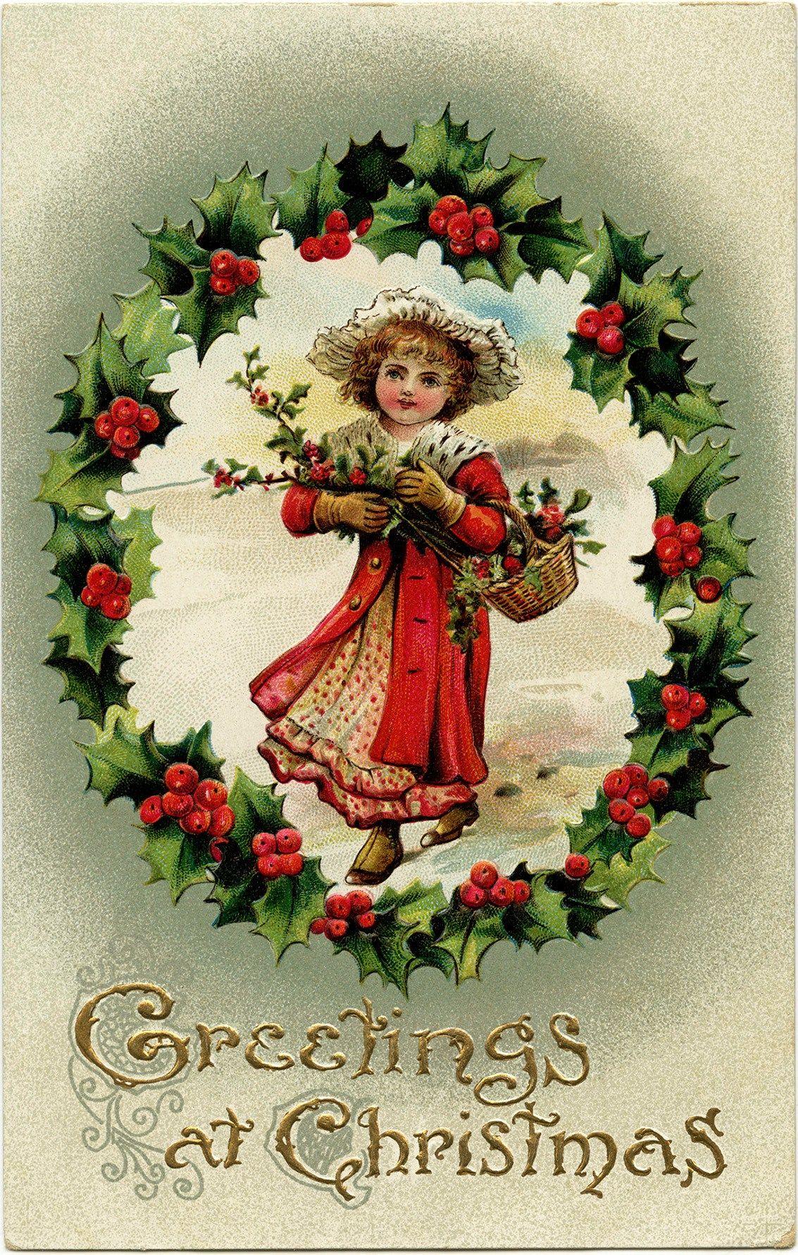 Victorian Postcard Graphics Vintage Postcard Christmas Postcard Old Fashioned Christmas Card Vict Christmas Graphics Christmas Postcard Victorian Christmas