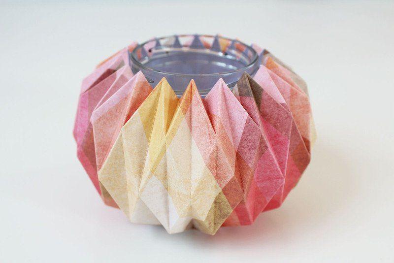 Photophores, Candle holder Origami Paper est une création orginale de KremkaDesign sur DaWanda