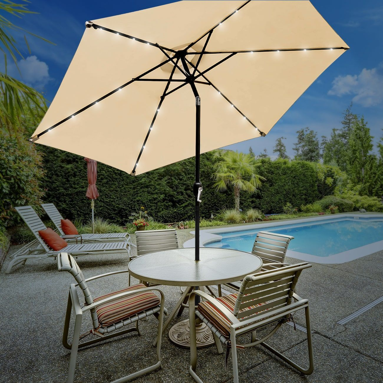 tilting solar umbrella - HD1300×1300