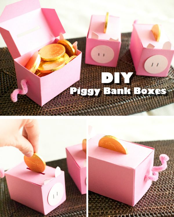 Diy piggy bank coin boxes unlimited life hacks crafts for How to make a simple piggy bank