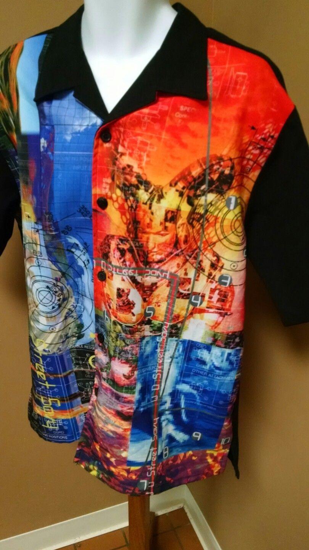 13d71a6c Street Savy Button Up Shirt Hawaiian Gaming Sci-Fi Robotics Mens XL Short  Sleeve | eBay