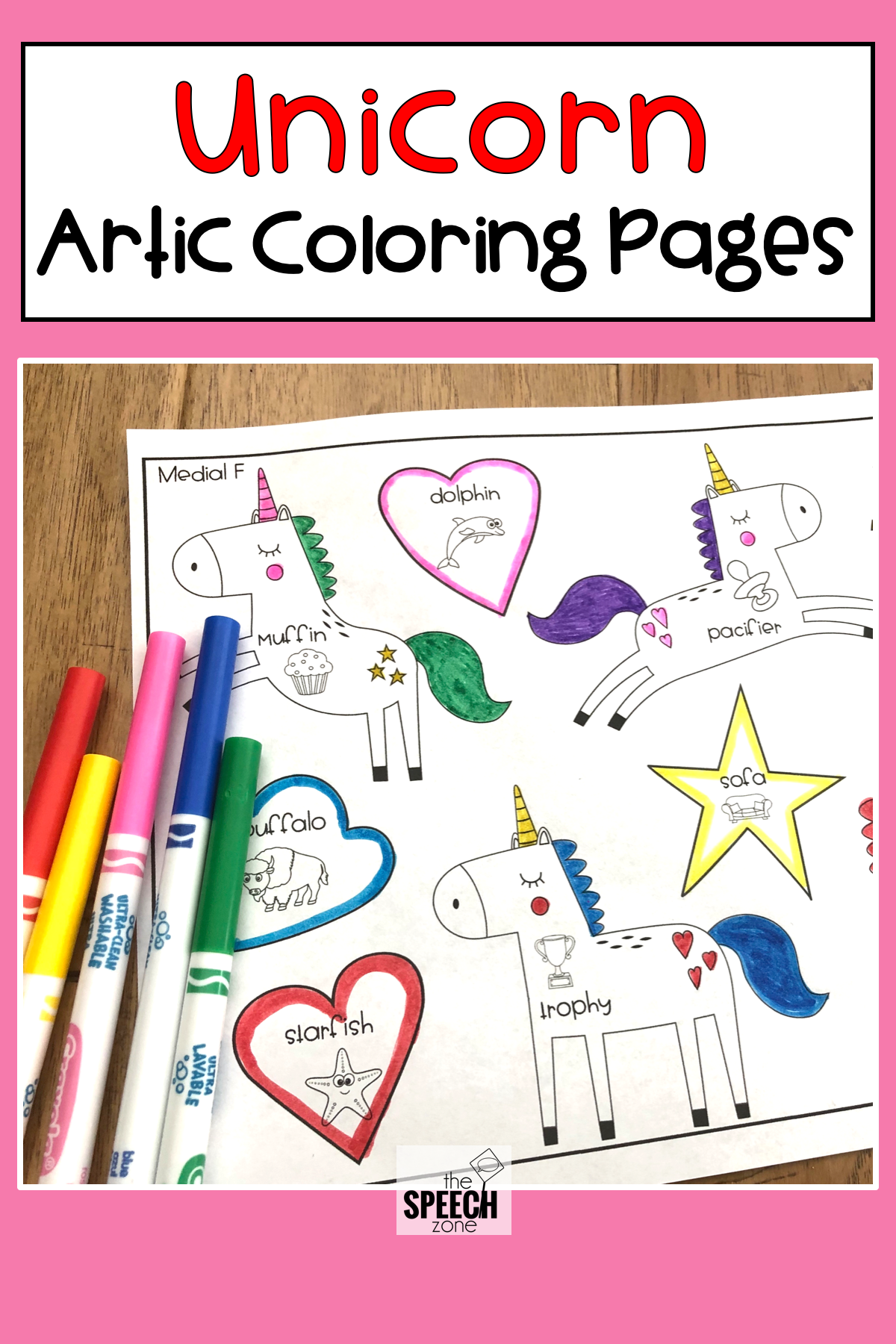 Unicorn Articulation Worksheets