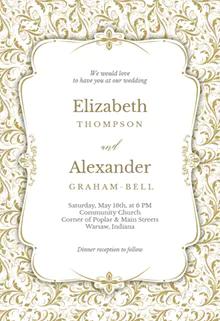Tasteful Tapestry Frame Wedding Invitation Template Free Greetings Island Popular Wedding Invitations Wedding Invitations Wedding Frames