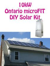 10kw Grid Tied Kit Net Metering Microfit Solar Panel Inverter Panneau Solaire Solar Panels Solar Panels For Home Solar Kit