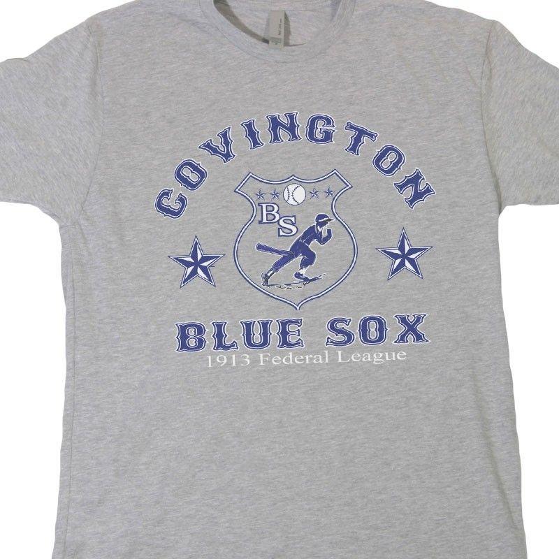Covington Bluesox t shirt, vintage blue sox shirt