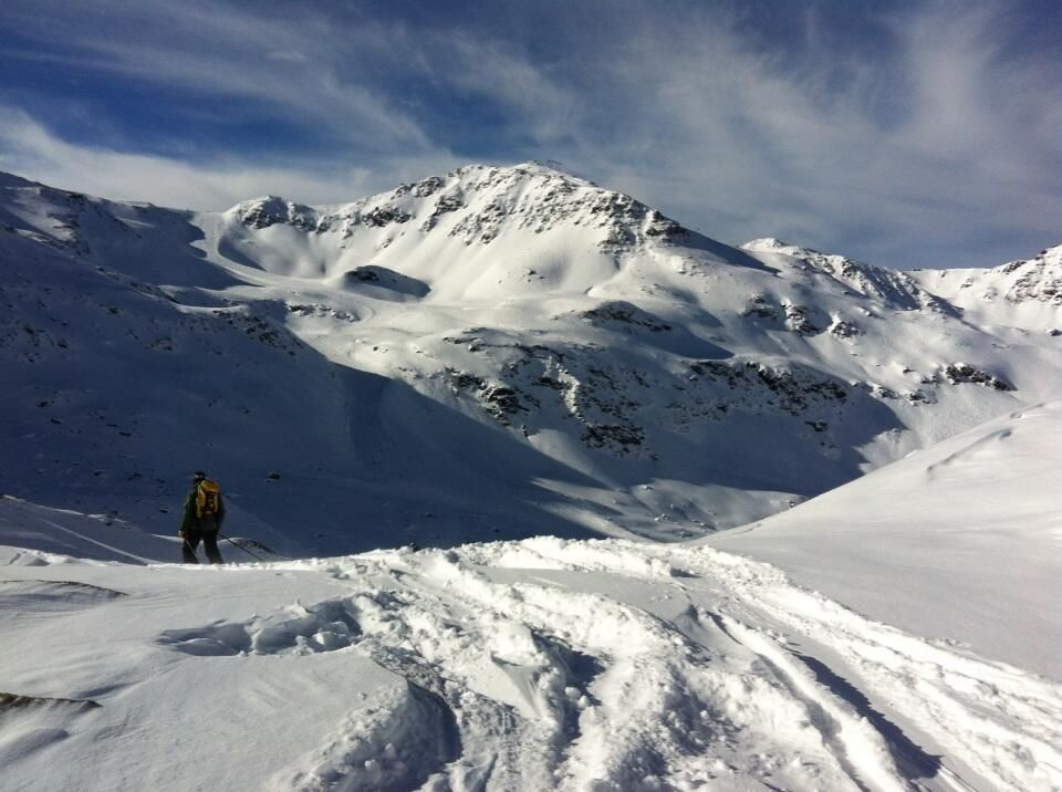 Off piste Mont Vallon - January