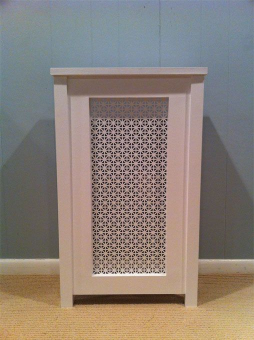 Poplar Enclosure With White Painted Aluminum Screen Gas Heater Cover Wall Heater Cover Heater Cover Baseboard Heater Covers