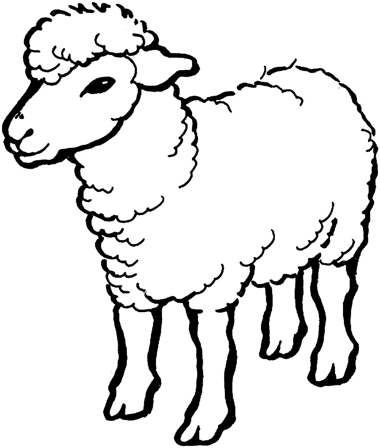 2 Farm Animals Drawing For Kids Sheep Coloring Page Farm Animals