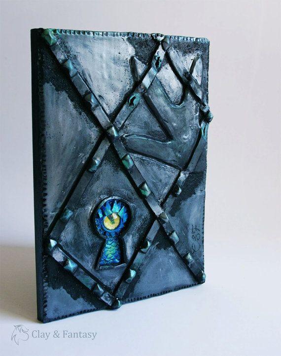 Look who Look // Polymer clay journal Secret by MayFantasyArt