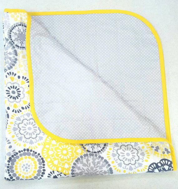 Hey, I found this really awesome Etsy listing at https://www.etsy.com/listing/281373302/yellow-and-grey-baby-quilt