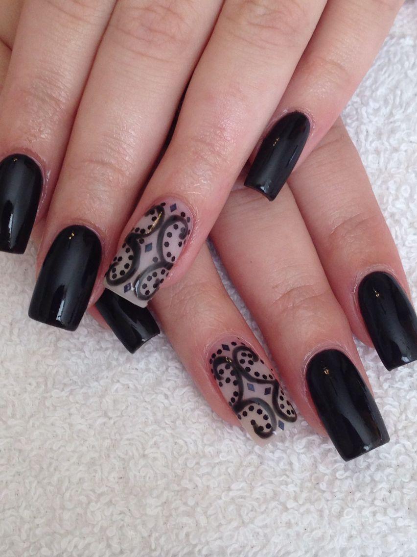 Elegant Halloween nails | Uñas, Manicuras, Diseños de uñas