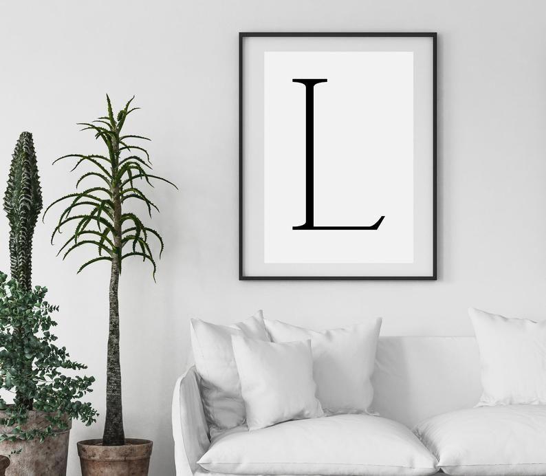 L Print Letter L Print Alphabet Print Letter Print Simple   Etsy