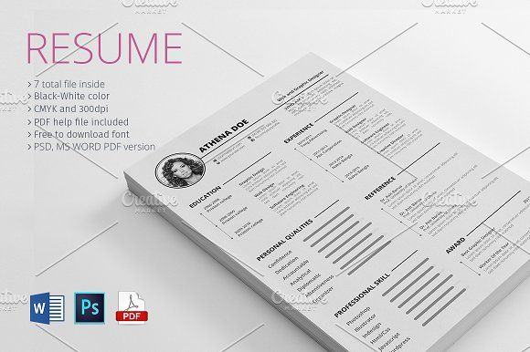 Resume With MS Word Template
