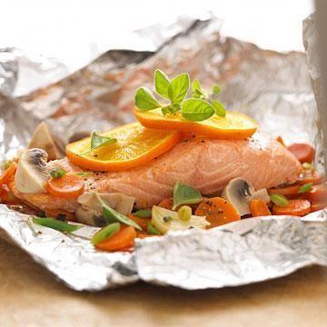 Salmon Vegetable Bake Seafood Recipes Diabetic Salmon