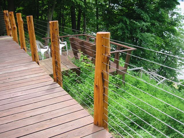 find this pin and more on landscape ideas low cost deck railing