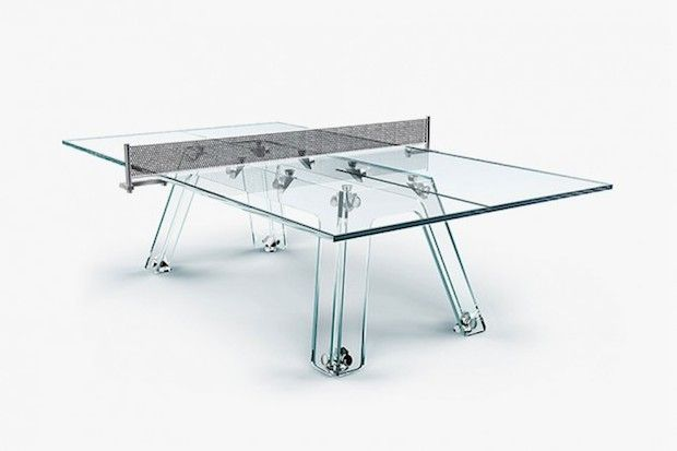 Calma E Gesso's Crystal Glass Ping Pong Table