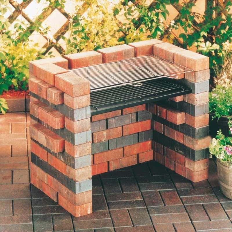 gartengrill selber bauen mit zwei ziegelsteinfarben grill selber bauen pinterest grilling. Black Bedroom Furniture Sets. Home Design Ideas
