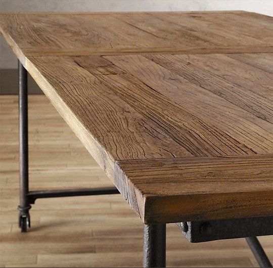 Rustic  Industrial A New Style Of Farmhouse Table  Rustic Interesting Industrial Style Dining Room Tables Decorating Design