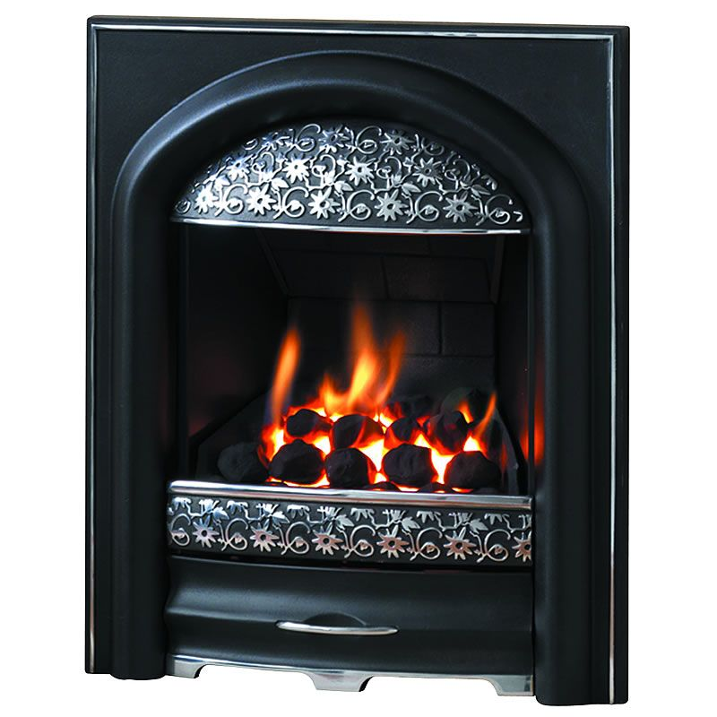 Exquisite Black And Polished Cast Iron Gas Fire Design Gas Fires