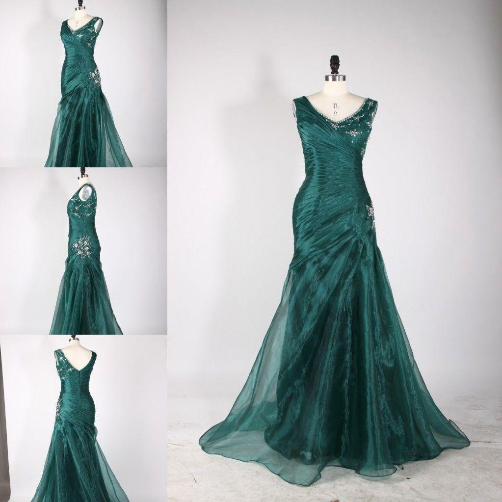 Abendkleid Tannengrün Organza  Kleider, Abendkleid, Grün