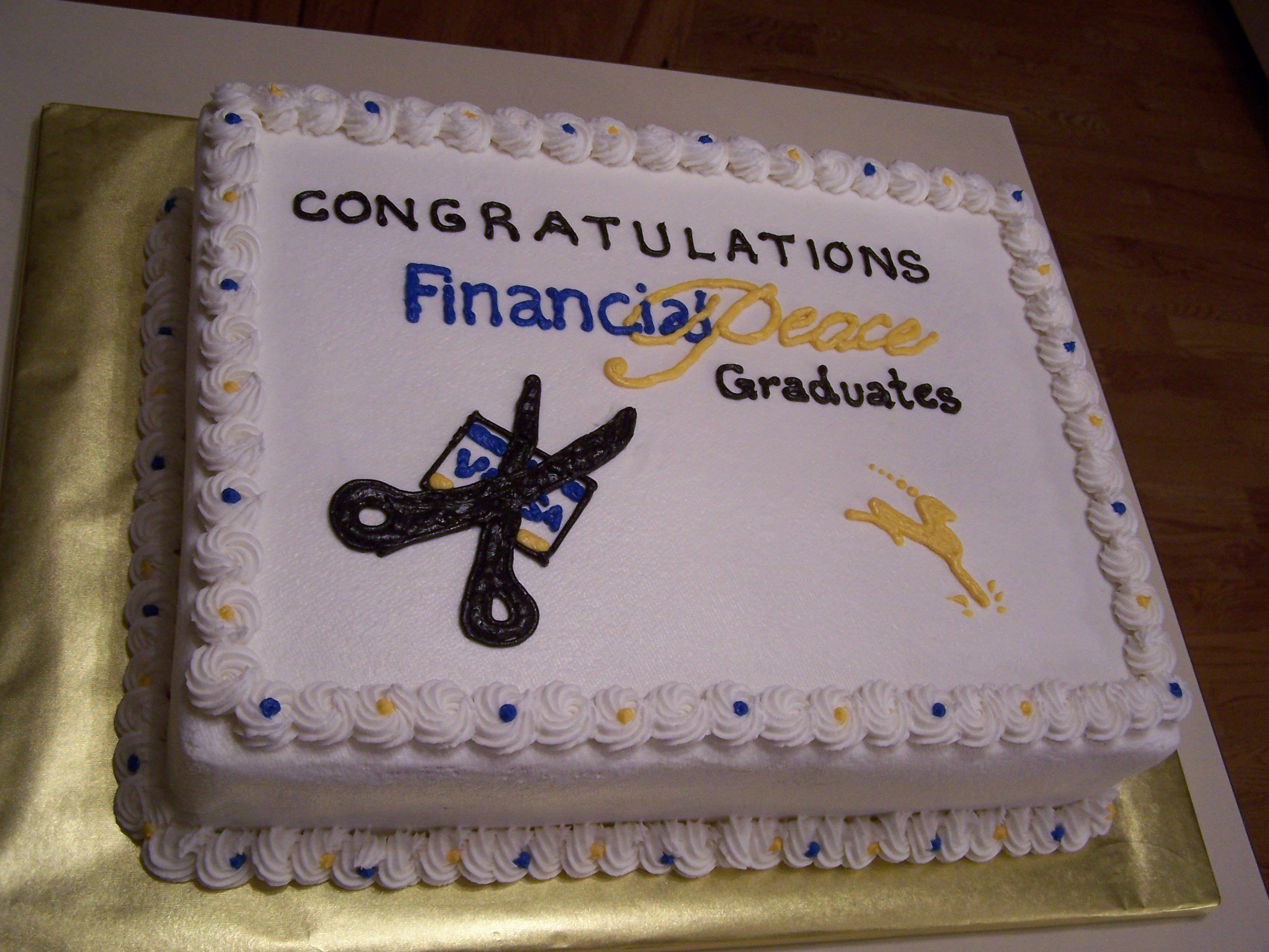 Dave Ramsey Cake Financial peace university, Dave ramsey