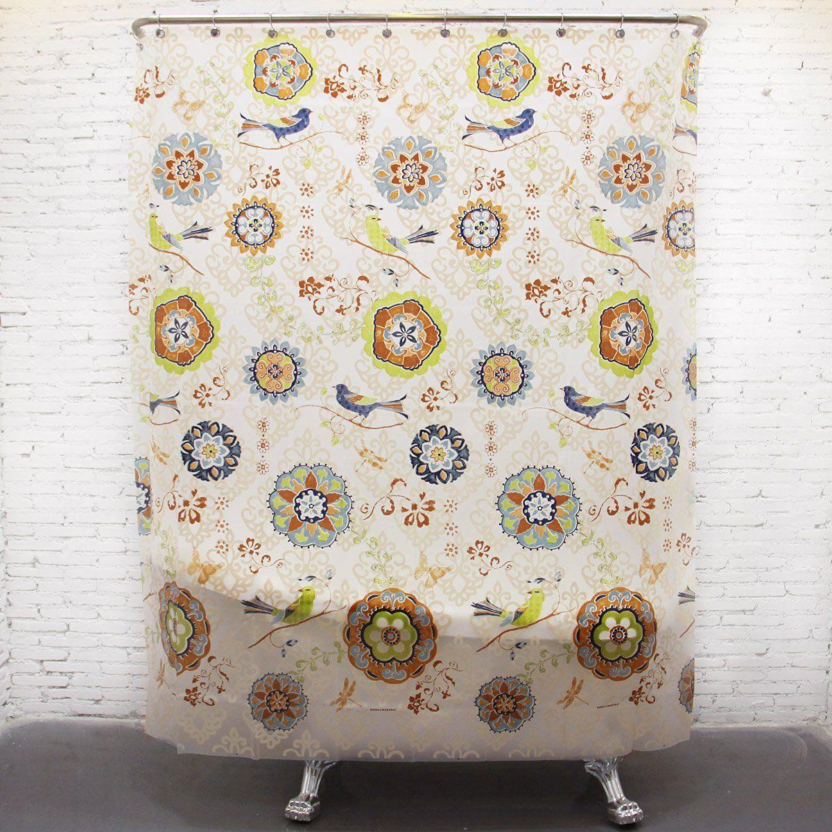 Riverbyland Shower Curtains Birds 72 X 80