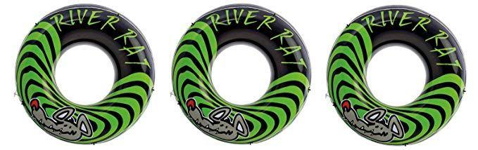 3 Pack Intex River Rat 48 Inch Inflatable Tubes For Lake Pool