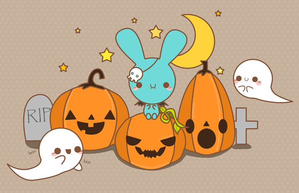 Free Halloween Wallpapers Cute Halloween Cartoons Wallpaper Kawaii Halloween Halloween Wallpaper Halloween Cartoons