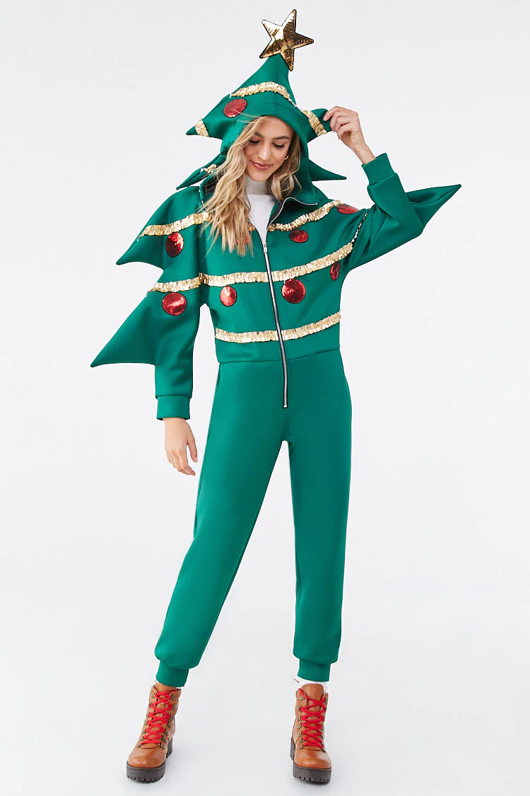 Christmas Tree Jumpsuit Forever 21 Christmas Sweaters Party Outfit Holiday Outfits