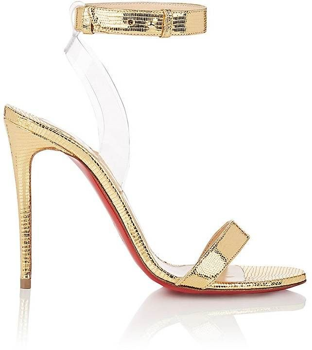 24d576fff5d2 Christian Louboutin Women s Jonatina Leather   PVC Sandals