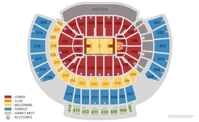Philips Arena Seating Map tickets atlanta hawks vs chicago bulls ...