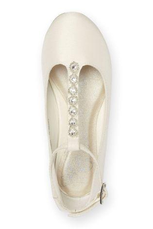 Ivory Jewel Strap Pumps (flower Girls