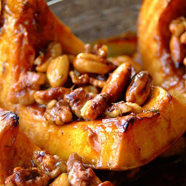 Honey and Thyme Roasted Pumpkin Recipe | Yummly