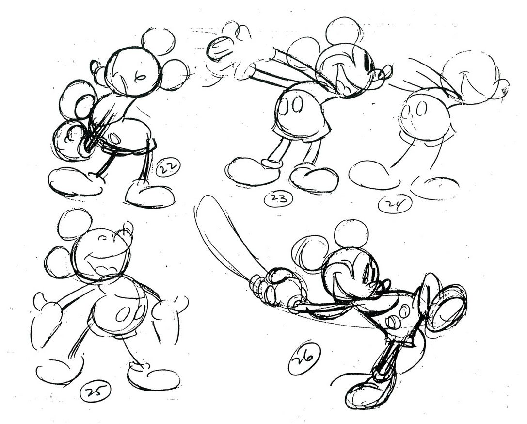 439afe16c79dc Classic Mickey Mouse Animation Models  illustration  popculture  vintage   disney  mickeymouse  conceptart