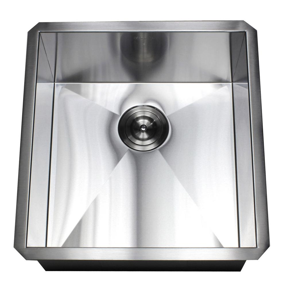 Kingsman Hardware Undermount Stainless Stee 19 In X 20 In X 10 In Deep L Prep Bar Island Single Bowl Zero Radius Kitchen Sink F1920 Sink Kitchen Upgrades New Kitchen Cabinets